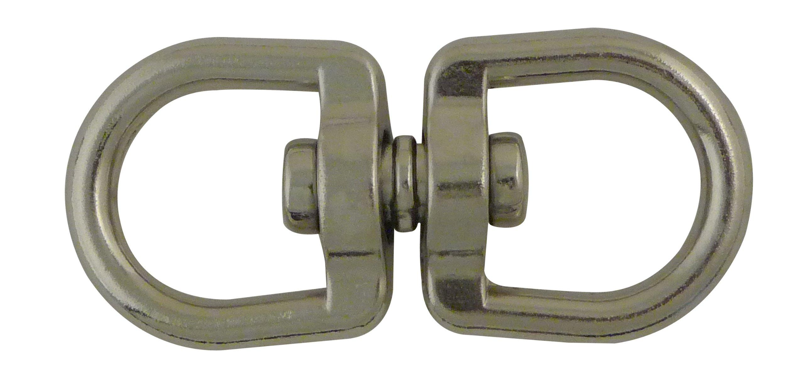Viso DTP252NP Double Eye Swivel Hook - Nickel Plated Zamak