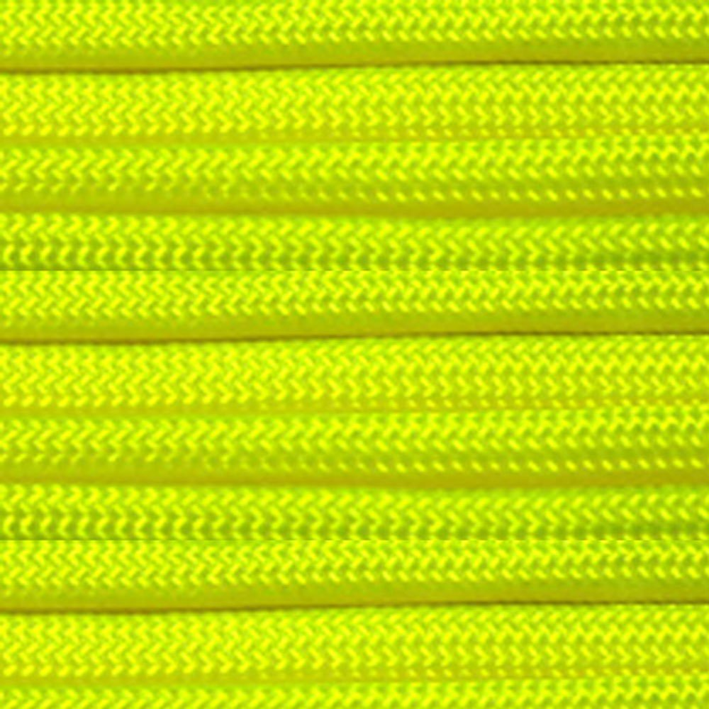 Neon Yellow 100 Feet PARACORD PLANET Type IV Paracord 750 lb Tensile Strength Tough Parachute and Tactical Cord with a Removable Inner 11 Strand Core
