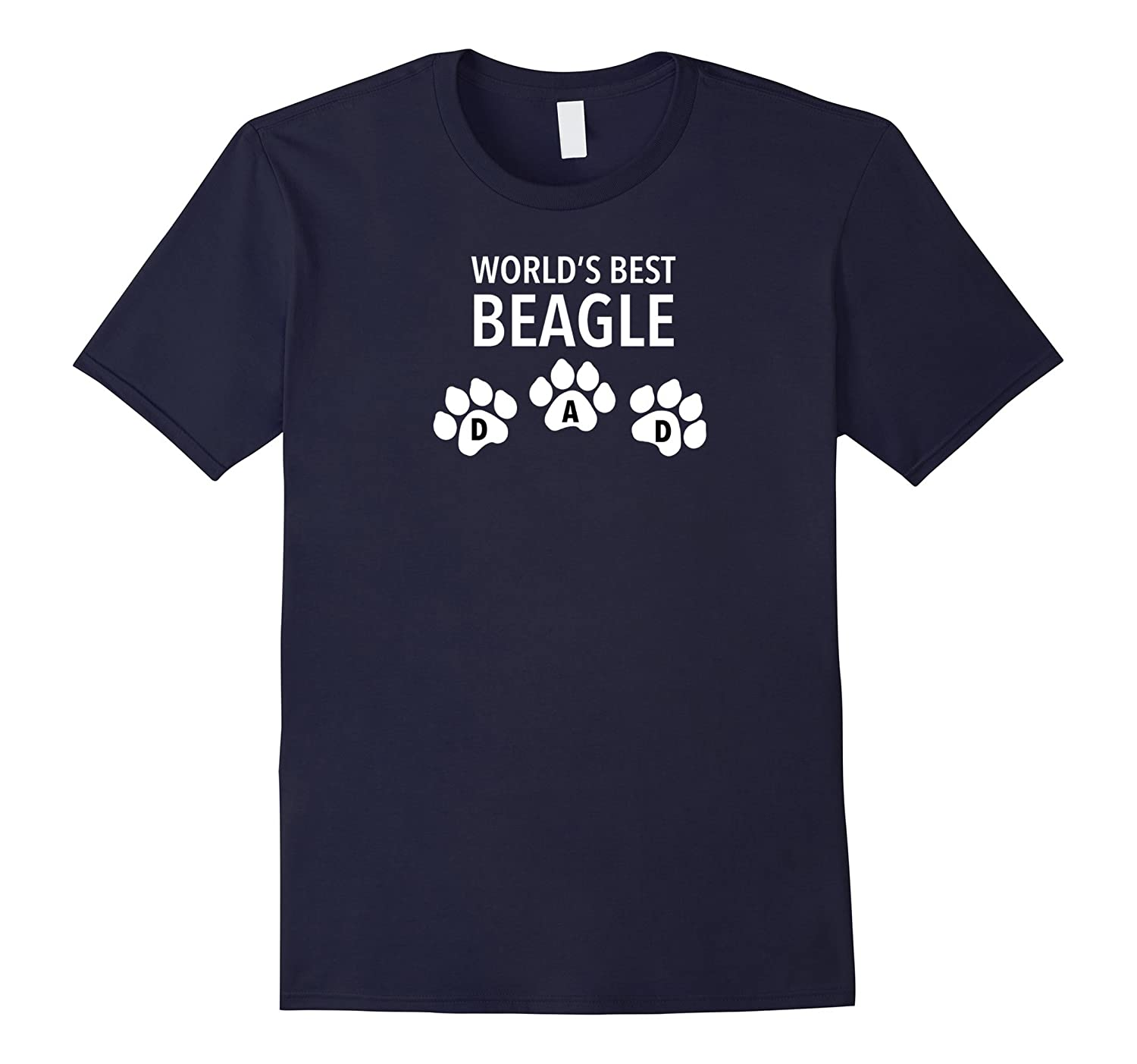 World's Best Beagle Dad T shirt With Paw Design Effect-TH