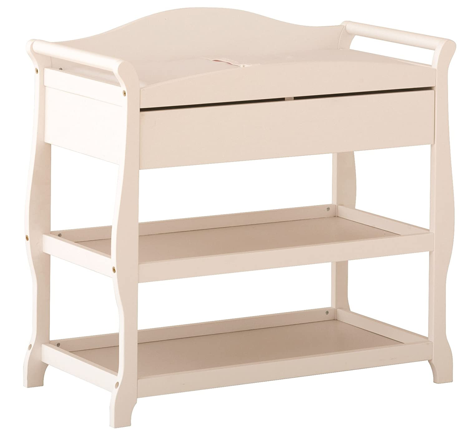 B0002ZHDVC Storkcraft Aspen Changing Table with Drawer, White 71WRwedyKgL