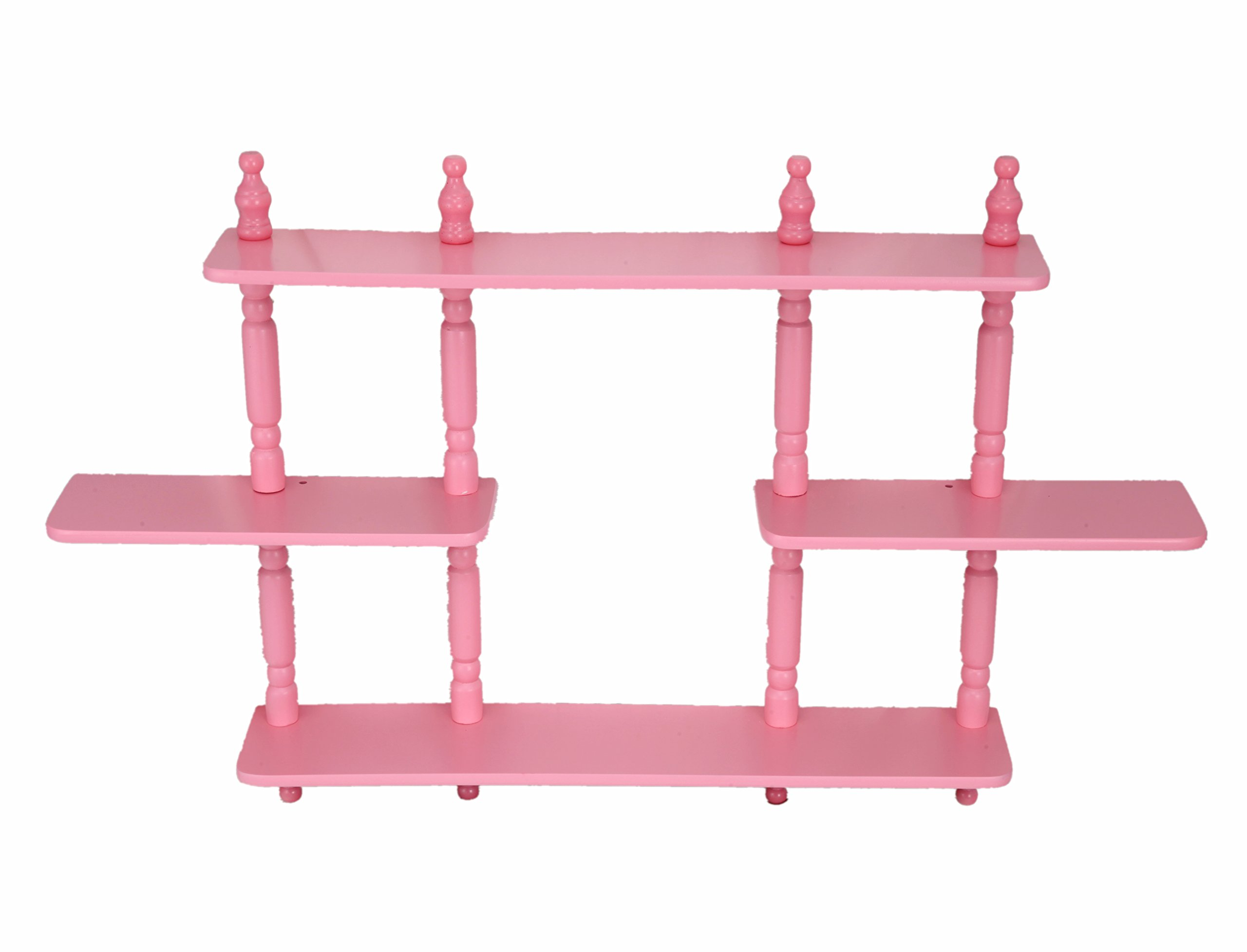 Frenchi Home Furnishing Kid's 4-Tier Wall Shelves, Pink