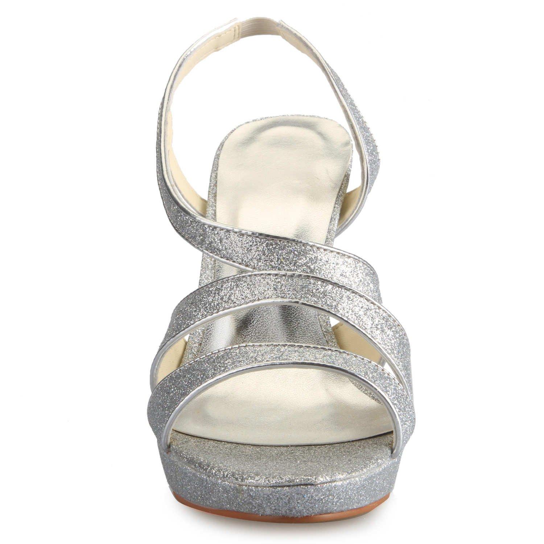 23686fd43c33d8 JIA JIA Chaussures de Mariée Pour Femme 37081 Bout Ouvert Heels Sparkling  Platform Sandales Chaussures de Mariage: Amazon.fr: Chaussures et Sacs