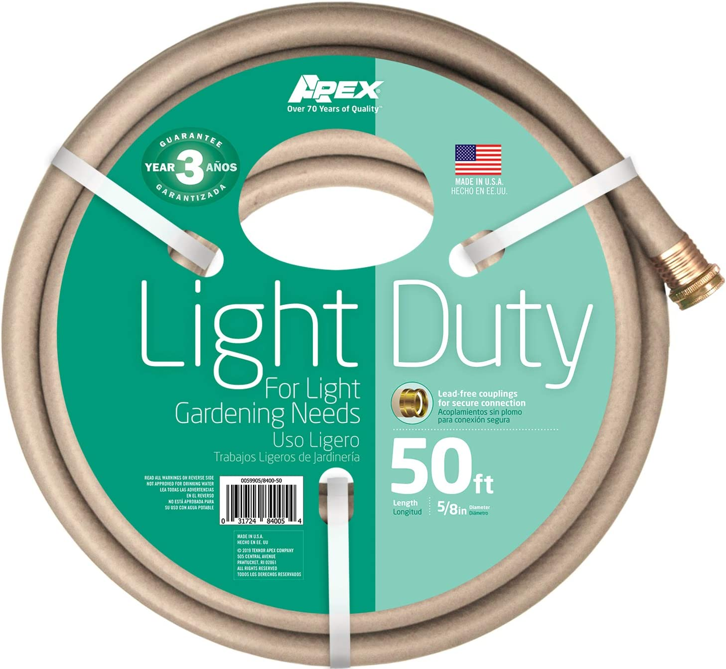 Apex, 8400-50, Light Duty Garden Hose, 5/8-Inch by 50-Feet