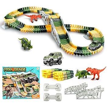 Diy 144 Pièces Voiture Dinosaure Circuit EnfantLot Tetake De 9D2IEH