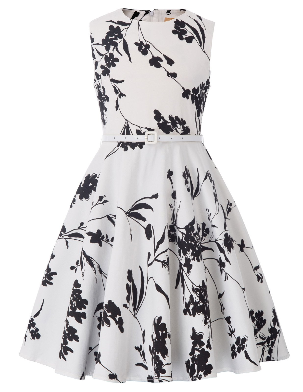 Kate Kasin Sleeveless Cotton Country Flower Summer Casual Dress for Toddler Girls 8-9yrs K250-25