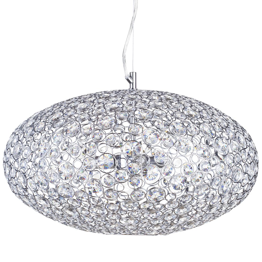 Ovii 3 light decorative ip44 rated bathroom ceiling pendant in chrome glass litecraft amazon co uk lighting