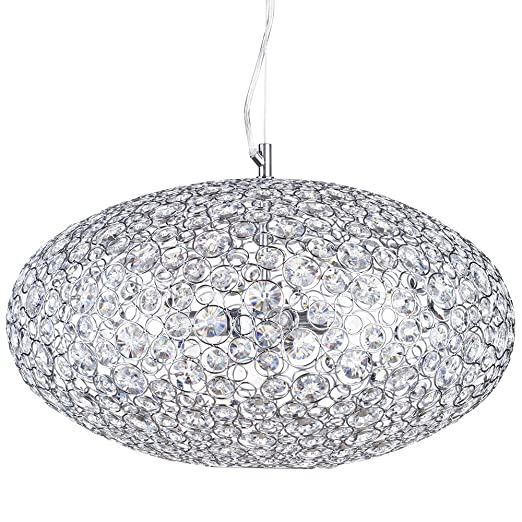 new styles 2a2a3 2d4b7 Ovii 3 Light Decorative IP44 Rated Bathroom Ceiling Pendant in Chrome &  Glass Litecraft