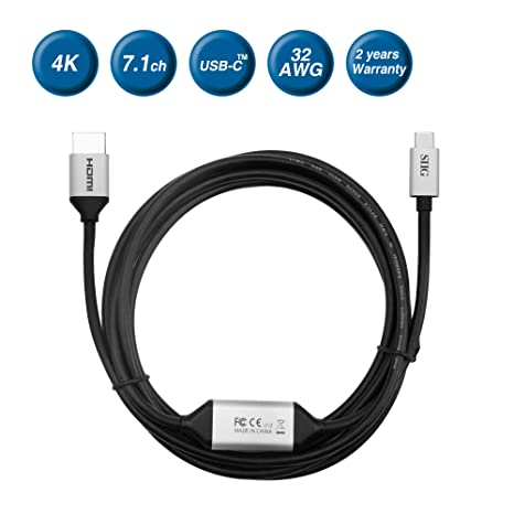 amazon com siig 2m usb type c to 4k hdmi active cable thunderbolt rh amazon com