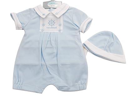 Del bebé Virgin Racing de manga corta para niño color azul y con diseño marino con