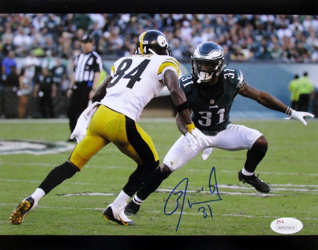 Jalen Mills Signed Philadelphia Eagles 8x10 Photo vs Antonio Brown JSA ITP