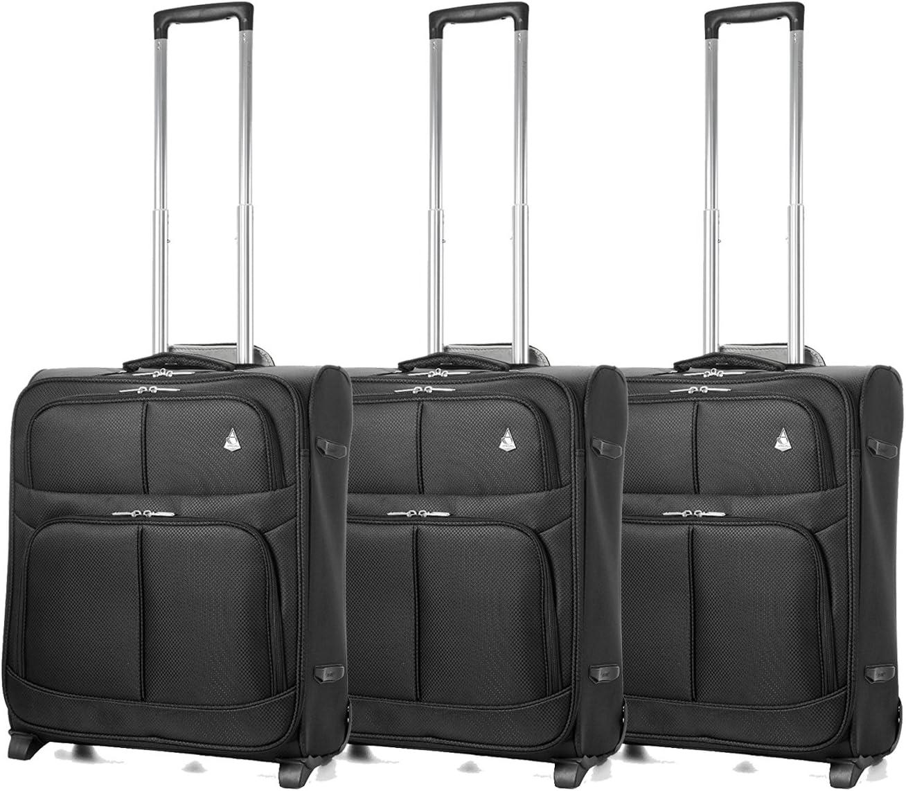 Noir Easyjet et British Airways 56x45x25cm Bagage /à Main de Cabine maximale Approuv/é Trolley Sac Huge 60L Capacit/é, 3 x Noir