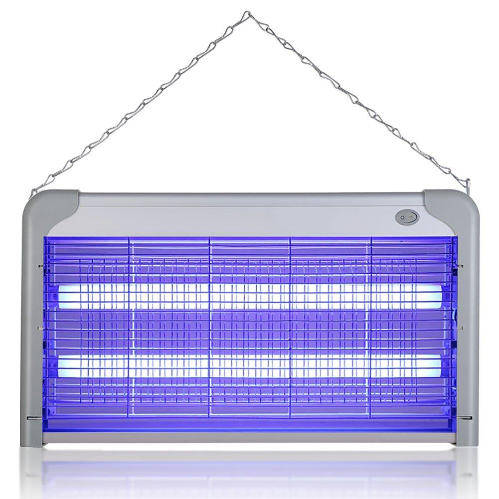 GUOWEI Ammazza Zanzare Lampada LED Elettro-shock Rumore Basso Radiazione Zero Lega Di Alluminio Tubo Di Vetro Sospensione A Muro Risparmio Energetico Interno (colore   Bianca, dimensioni   Q -30W)