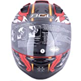 SOL Unicorn II Full Face Helmet (Red and Silver, L)