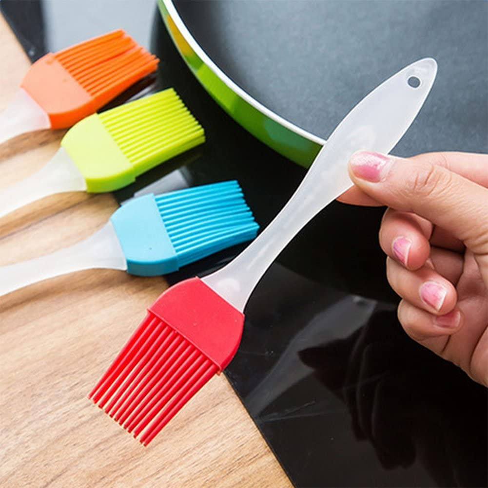 Random Color,17cm Essential Bakeware Equipment WeiMay 7pcs Professional Kitchen Silicone Pastry Oil Butter Basting Brushes Cooking Tool for Barbecue//Cooking//Baking