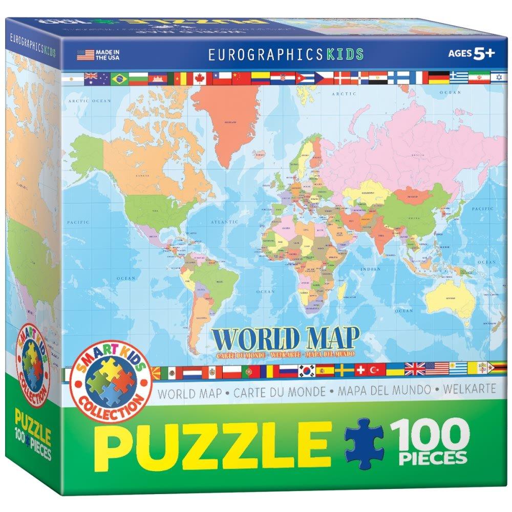 国産品 EuroGraphics 世界地図 100ピースパズル EuroGraphics 世界地図 B07F5T98X8, Gretsch:fe970c77 --- 4x4.lt