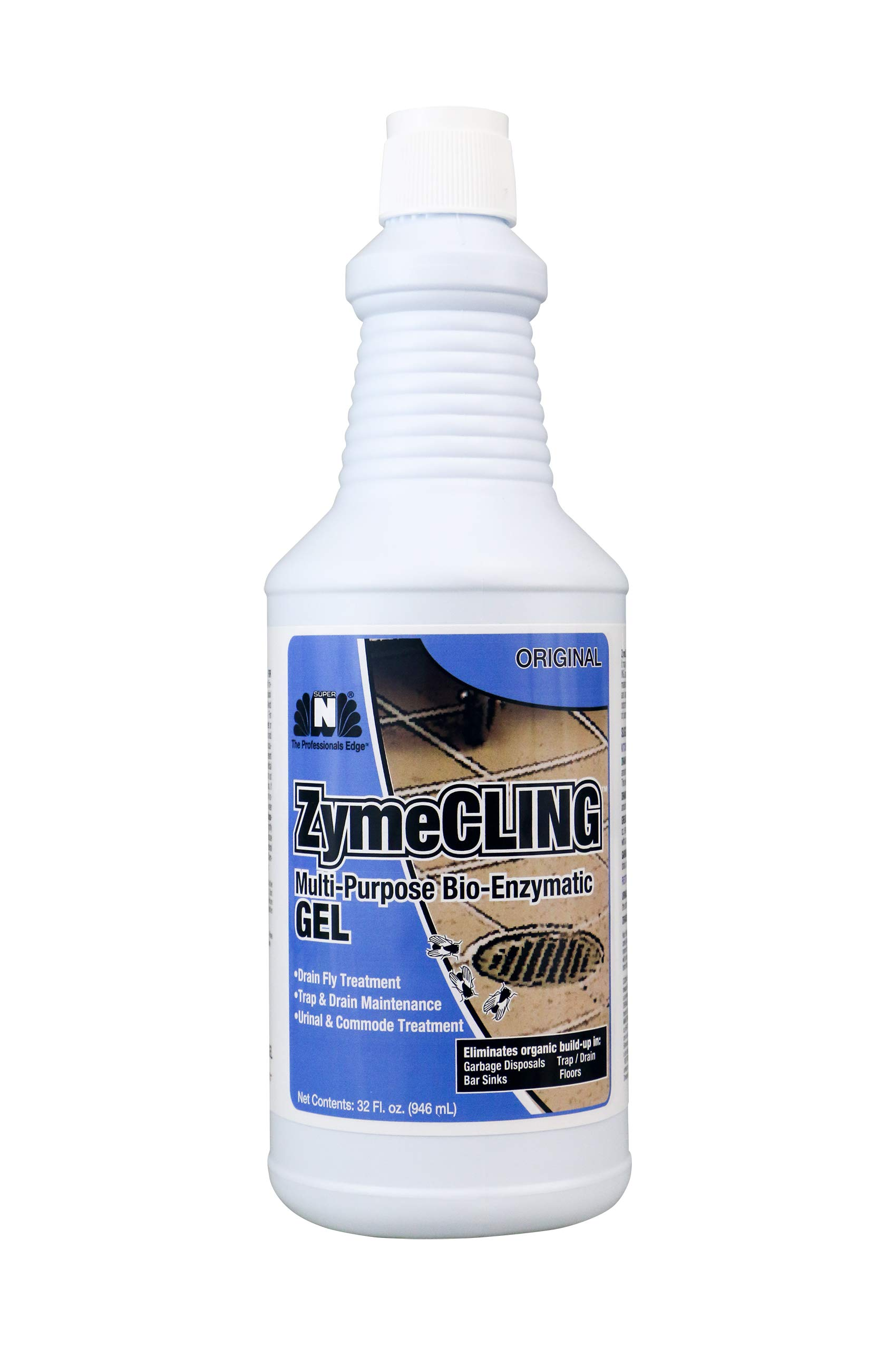 Nilodor ZymeCLING Multi-Purpose Gel with Bacteria Strains and Enzymes - 6 Quart case