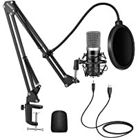 Neewer USB Microphone Kit for Windows and Mac, Includes Suspension Scissor Arm Stand, Shock Mount, Pop Filter, USB Cable…