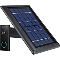 Wasserstein Weatherproof Solar Panel Compatible with Eufy Video Doorbell 2K (Battery-Powered) - Continuous Charging for…