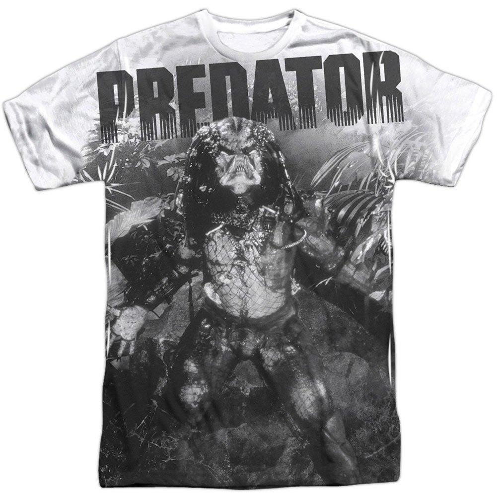 Predator 1980's Sci-Fi Horror Movie Alien in the Jungle Adult Front Print TShirt Trevco