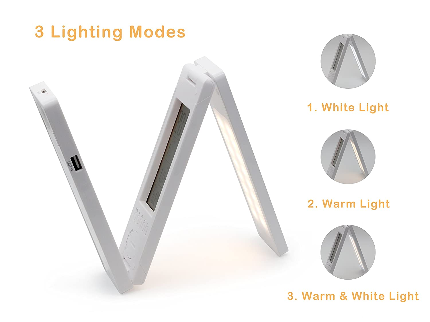 5 in 1 Function Foldable Solar Charge Table Lamp OKTech