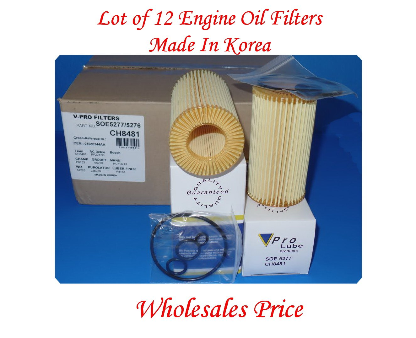 Lot of 12) Engine Oil Filter Made In Korea SOE5277 Cross