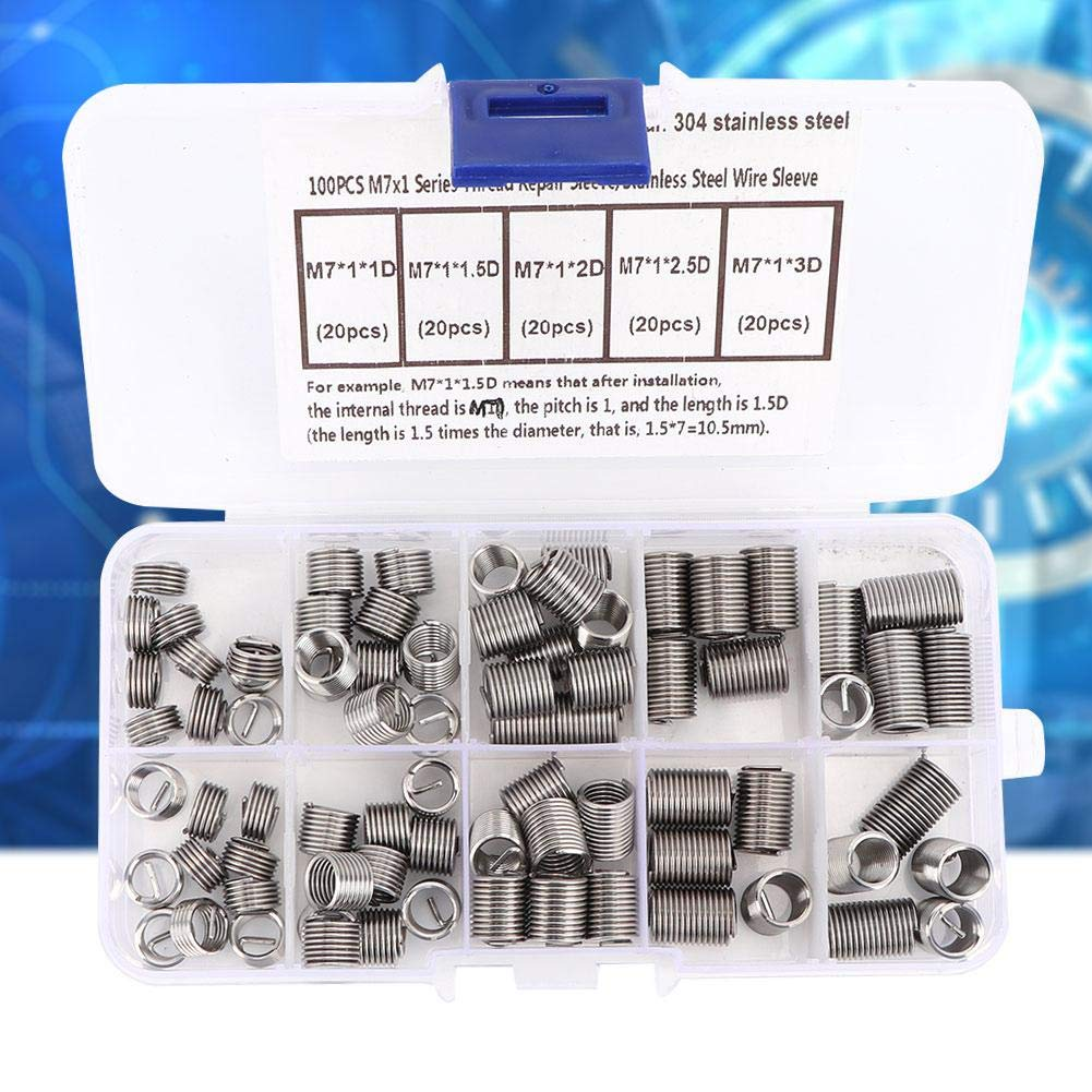 NOT a Pile of Garbage Really Good Quality Products 100pcs M71 Coiled Wire Thread Repair Insert Stainless Steel Thread Screws Sleeve Set