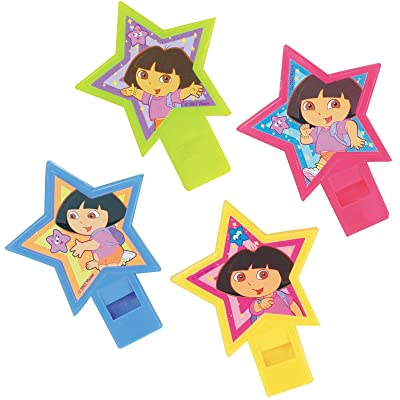 Dora the Explorer Party Whistles 4 Pack: Toys & Games