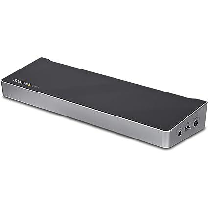 StarTech.com USB3DDOCKFT - Replicador de Puertos para Dos Ordenadores portátiles, Color Negro y