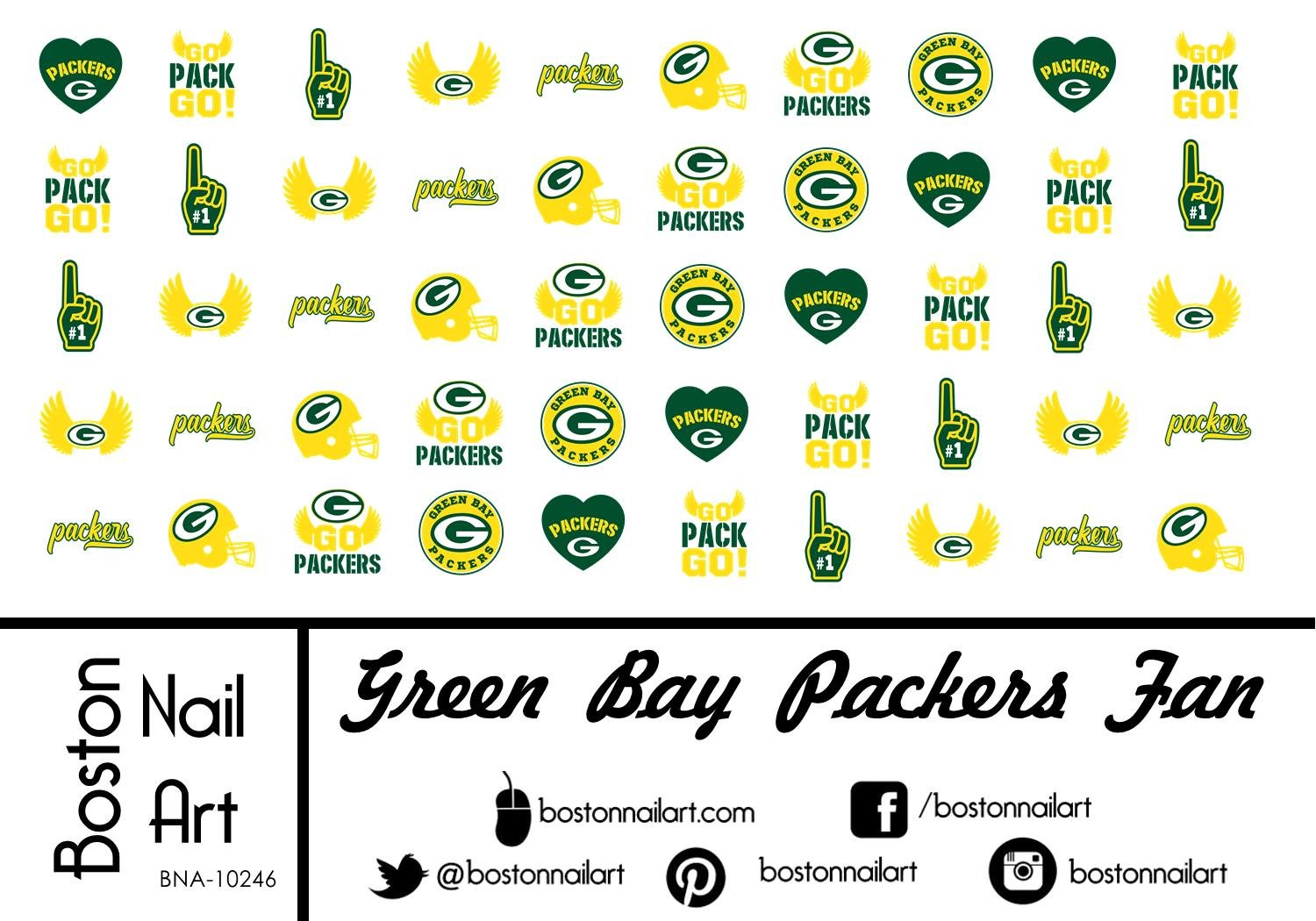 Amazon.com: Green Bay Packers Waterslide nail decals (Tattoos) V1 ...
