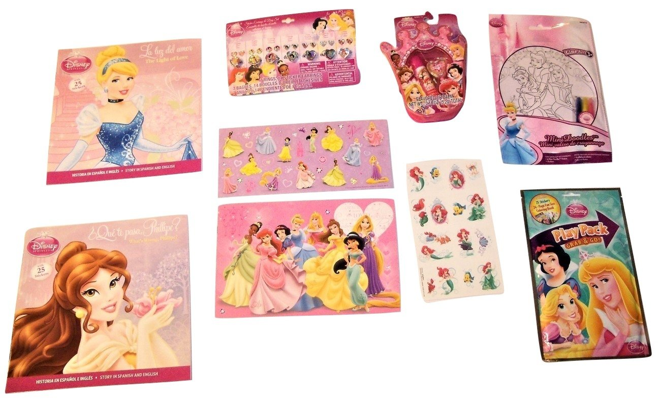 Disney Princess Activity Gift Set ~ Love All Around (Mini Doodle, Play Pack, Tattoos, Ring and Earring Set, Stickers with Notebook, Paperbacks, ...