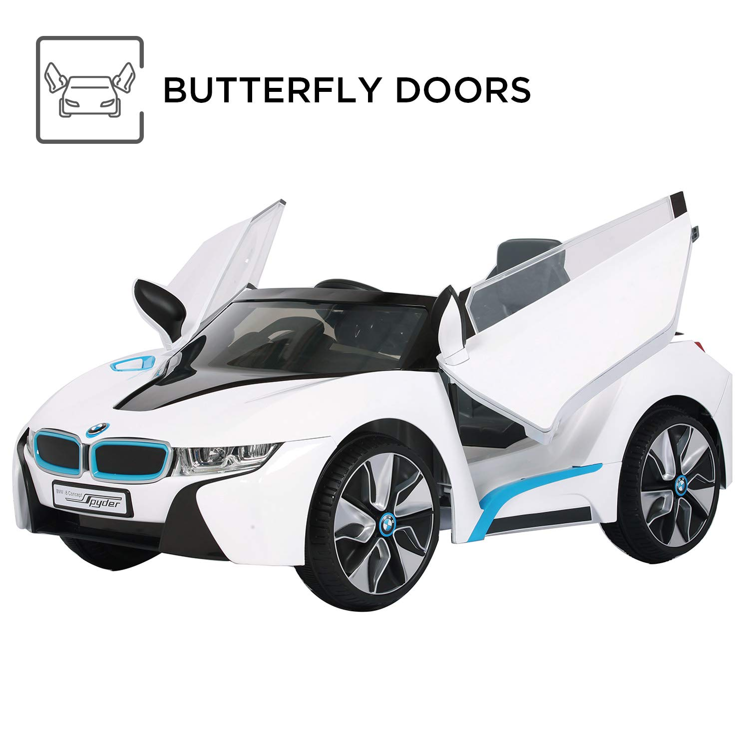 Rollplay 6 Volt Bmw I8 Ride On Toy Battery Powered Kid S Ride On Car White