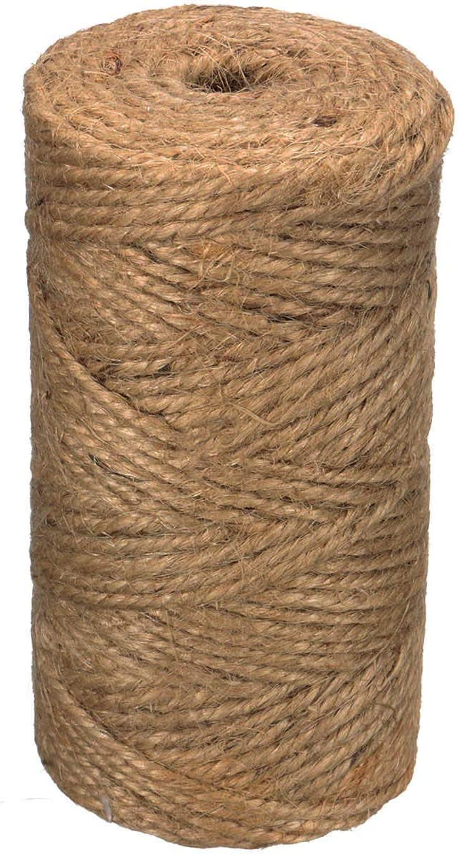 Rustic Jars Decoration and Garden Floristry Natural Jute Twine,328 Feet 2mm Natural Jute String Arts/&Crafts Twine for Gift Wrapping