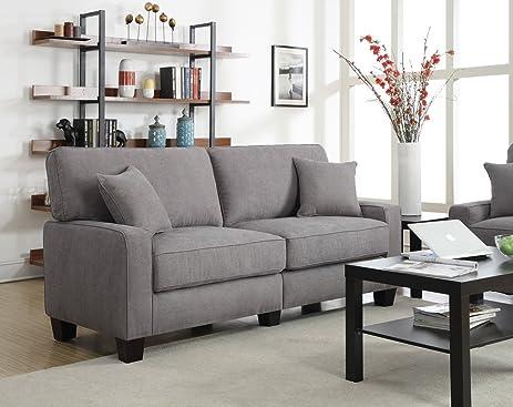 Serta RTA Palisades Collection 78u0026quot; Sofa In Glacial Gray