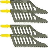 4 hojas de sierra con mango en T para madera HCS al ras, compatible con Dewalt, Bosch y muchos otros, de Sabrecut (JSSC2074_ 4)
