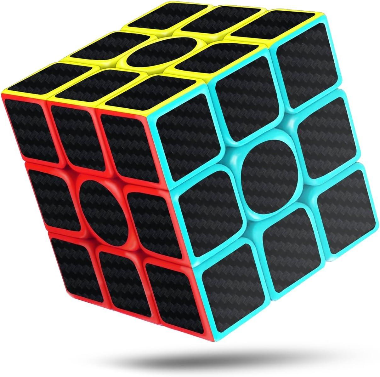 cfmour Cubo de Mágico, 3x3x3 Fibra de Carbono Suave Magia Cubo de ...