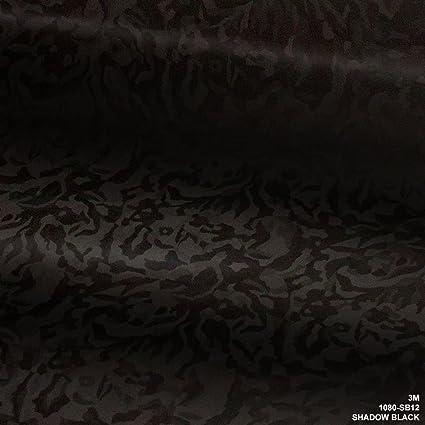 Sample Size Car Wrap Vinyl Film 3M 1080 SB12 Shadow Black 3in x 5in