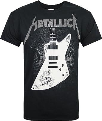 Producto Oficial de Het para Hombre Papa Metallica Guitarra T ...