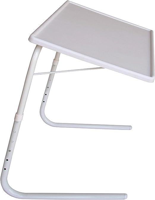 Protenrop Mesa portátil Regulable, Color Blanco: Amazon.es: Hogar