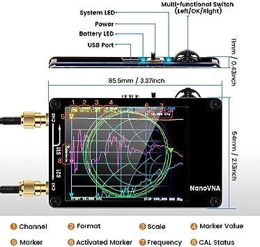 Analizador de Antena Vector de Red MF HF VHF UHF, 50 KHz-900 MHz: Amazon.es: Electrónica