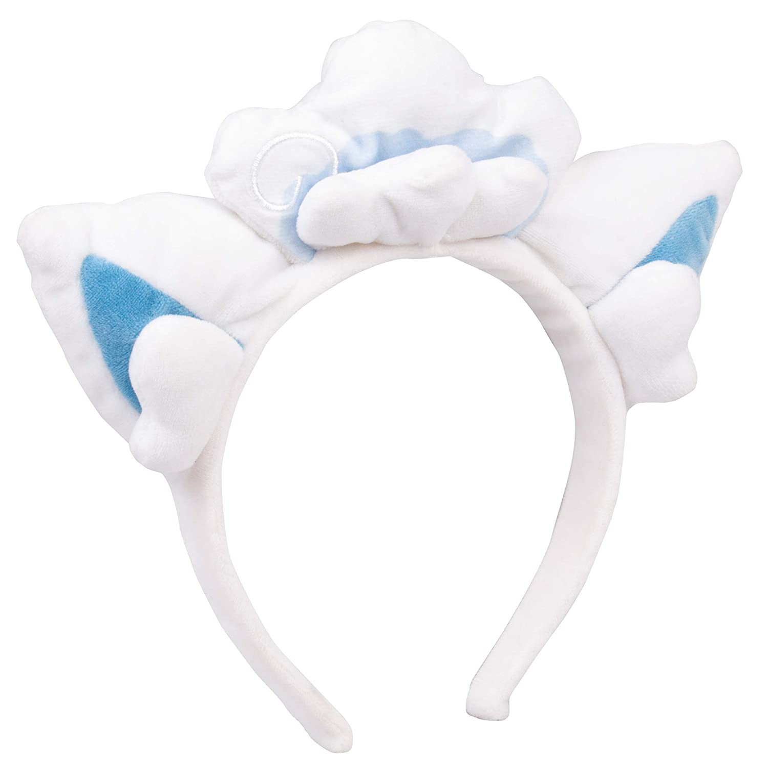 Pokémon Alolan Vulpix Plush Headband Alolan Vulpix Ears for Dress Up Halloween and More One Size Fits All