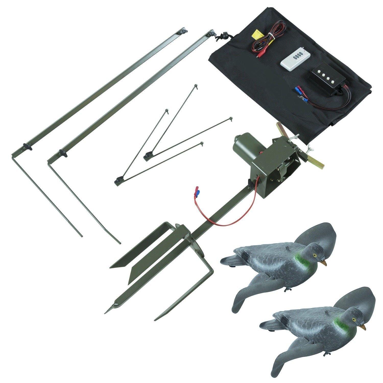 Chameleon - Imán de pigeón de Alta Resistencia con 2 Brazos y Kit de máquina giratoria para Caza