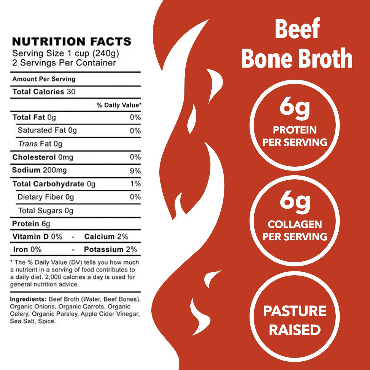 Amazon.com : Beef Bone Broth Soup by Kettle and Fire, Pack of 2, Keto Diet, Paleo Friendly, Whole 30 Approved, Gluten Free, with Collagen, 6g of protein, ...