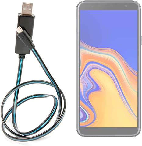 DURAGADGET Cable USB a Micro USB con Flujo de Luces LED de Color ...