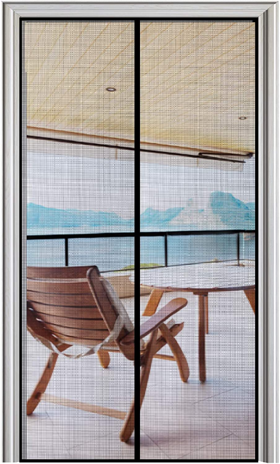 Strengthened Fiberglass Insect Fly Mesh Fit Doors Size Up to 28W x 80H Max Narrow Magnetic Screen Door 28 x 80