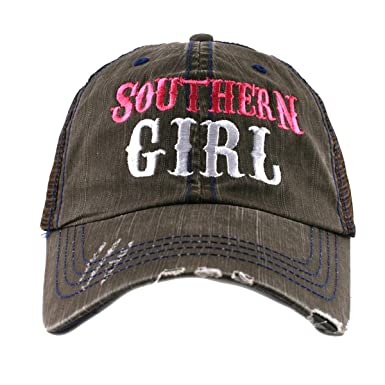 sale retailer 7f600 4a85d Katydid Southern Girl Trucker Hat-brown hot pink at Amazon Women s Clothing  store