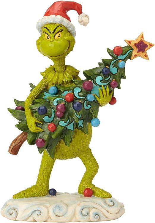 Amazon Com Enesco Dr Seuss The Grinch By Jim Shore Stealing Tree Figurine 8 66 Multicolor Home Kitchen