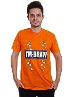 Mens I'm braw retro fizzy T-shirt