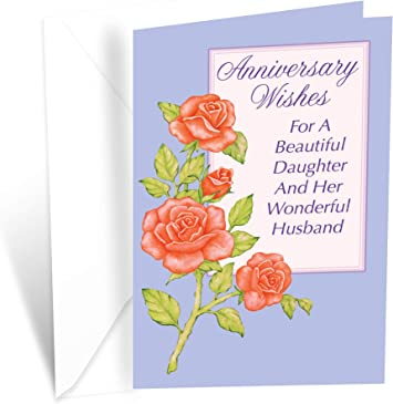 Daughter /& Son in Law Wedding Anniversary Card