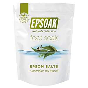 Tea Tree Oil Foot Soak with Epsoak Epsom Salt - 2 POUND Value Bag - Fight Bacteria, Nail Fungus, Athlete's Foot, and Unpleasant Foot Odor