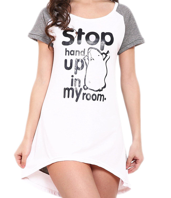 Godsen Women's Cotton Sleepwear Nightshirts Pajama Tops 83101603
